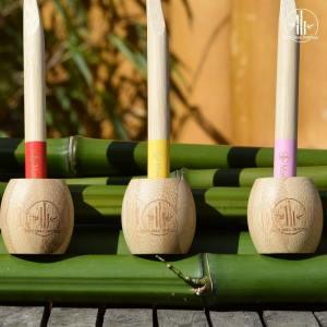 Porte brosse à dents bambou