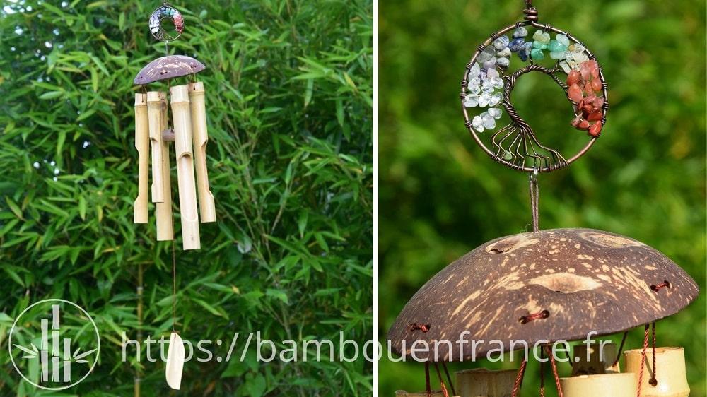 Carillon en bambou arbre de vie