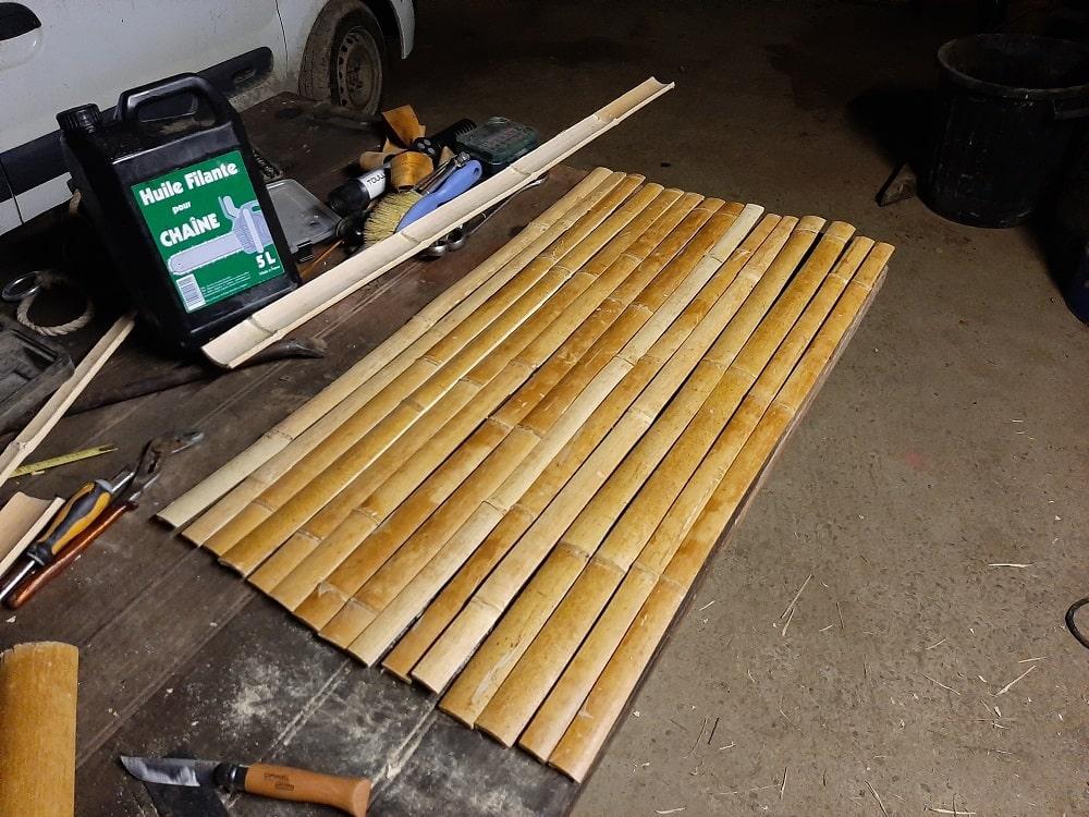 Egaliser les lamelles de bambou