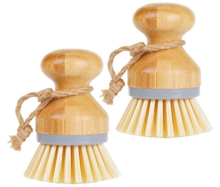 Brosse à vaisselle en bambou à main