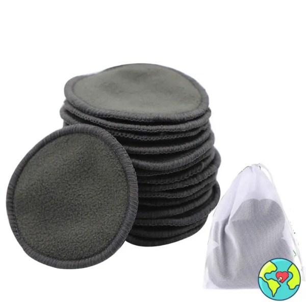 dischetti struccanti lavabili cotone neri