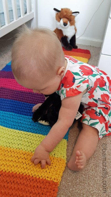 baby on the rug 1
