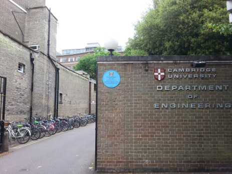 Department of Engineering, Cambridge University.