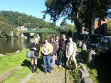 With colleagues at Liege, Belgium, September, 2015.