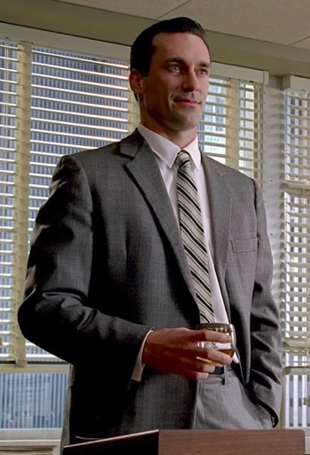 "Jon Hamm as Don Draper in ""Smoke Gets in Your Eyes"", Episode 1.01 of Mad Men."