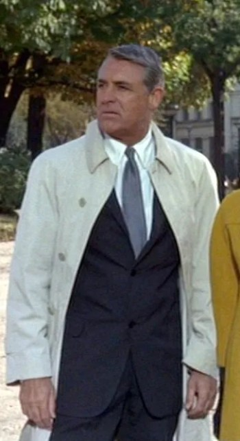 Cary Grant as the multi-named hero in Charade (1963)