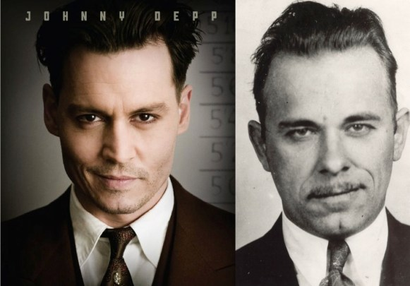 The real life Dillinger's tie was more of an abstract pattern than Depp's paisley.