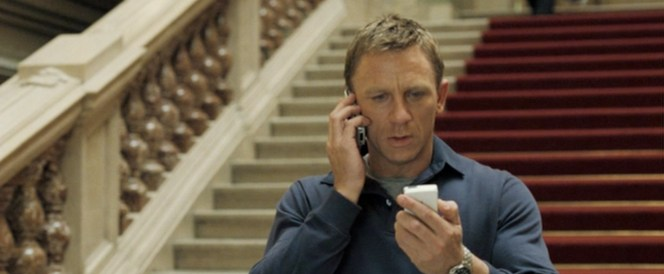 After this, Bond had to have a serious talk with M about the dangers of sexting.