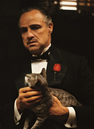 Marlon Brando as Vito Corleone in The Godfather.