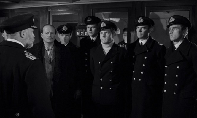 "Lightoller and fellow officers are addressed by Captain Smith in <em>A Night to Remember</em> while wearing various manners of dress. After Ismay, who shows up in his pajamas: 3rd Officer Pitman (who had a <a href=""http://vignette1.wikia.nocookie.net/titanic/images/b/b6/Herbert_John_Pittman.png/revision/latest?cb=20070616201552"">grand mustache</a> in real life), 4th Officer Boxhall, 2nd Officer Lightoller, 1st Officer Murdoch, and 5th Officer Lowe. Of those pictured, only Murdoch doesn't survive. Unseen are 6th Officer Moody and Chief Officer Wilde, neither of whom survived either."