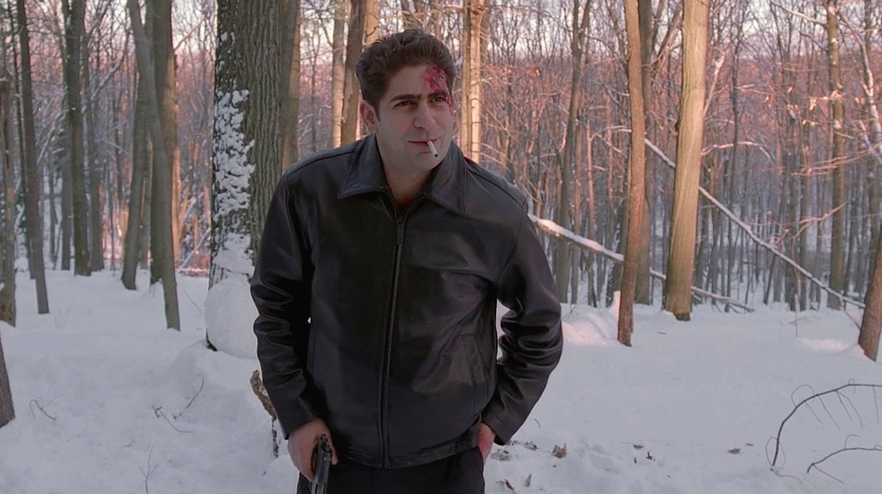 """The Sopranos: Christopher's Black Leather Jacket in """"Pine Barrens"""" » BAMF  Style"""