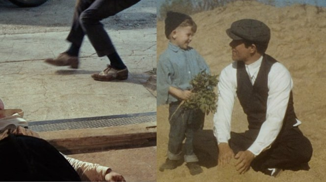 Clyde wore his dirty brown two-tones during the film's early scenes, before he could afford any better. Once the gang was more solvent, he springs for a pair of black and white ones. These are also the shoes worn in the costume test images shown here.