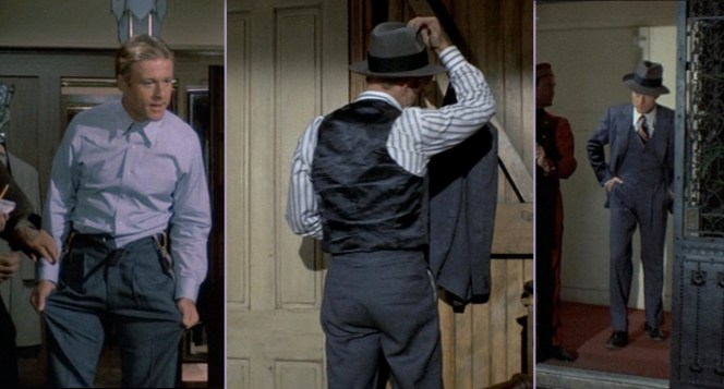 Hooker gradually becomes more comfortable in his pants than after the initial fitting.