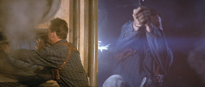 McClane's holster before and after yet another trip through an air vent.