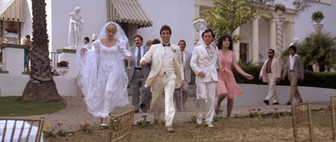 Tony, now a married man, proudly leads his pack across his estate.