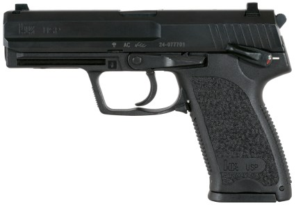 The Heckler & Koch USP9, handgun of choice for Neil McCauley.