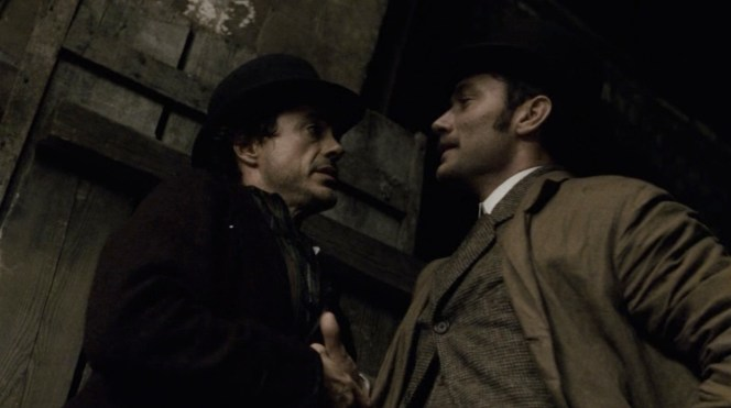 Holmes and Watson prepare for battle.
