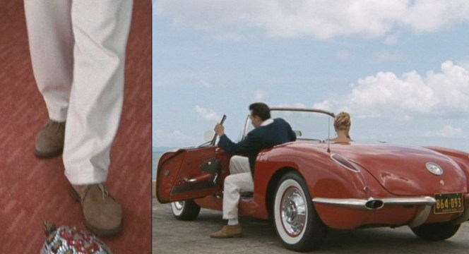 Brown suede chukka boots were also Steve McQueen's preferred footwear, while we're on the subject of classic cars.