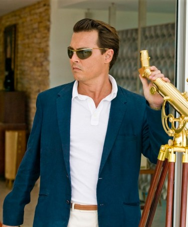 Johnny Depp as Paul Kemp in The Rum Diary (2011).