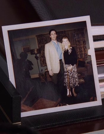 """Dear Don, Stephanie doesn't think we look old."" Don receives this photo from his visit to Anna in the following episode, ""The Rejected"" (Episode 4.04)."