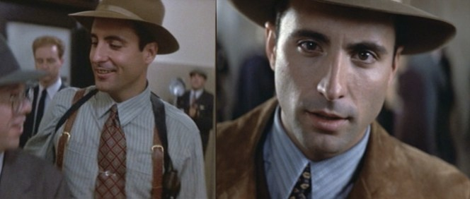 Andy Garcia talking directly into the camera was the 1987 version of Justus D. Barnes firing into the camera at the end of The Great Train Robbery. Audiences believed that Garcia was truly in the theater with them.