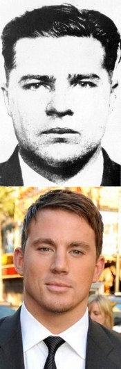 """""""Pretty Boy"""" c. 1930, and his portrayer Channing Tatum eighty years later."""