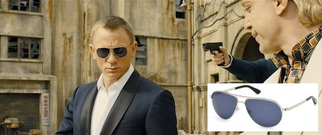 Bond was wisely prepared for a sunny morning on Silva's private island.