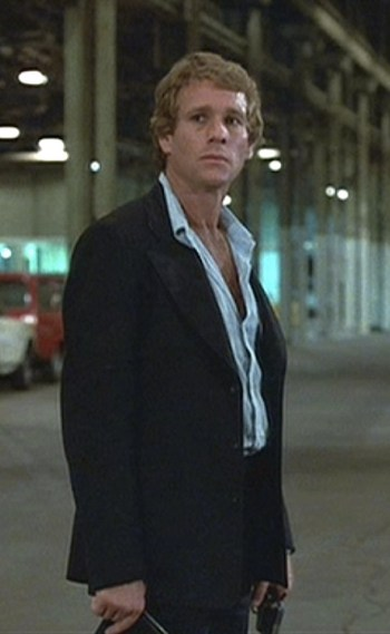 Ryan O'Neal in The Driver (1978).