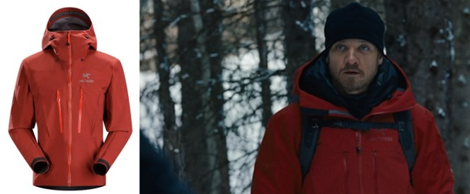 Cross sports an Arc'teryx Alpha SV jacket in The Bourne Legacy.