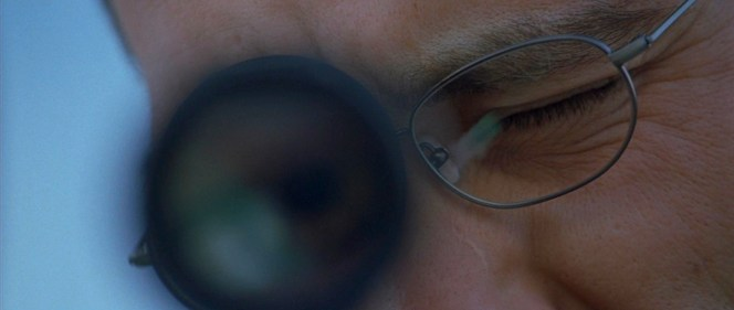 You couldn't ask for a better photo of The Professor's glasses (unless you wanted one of both lenses, of course).