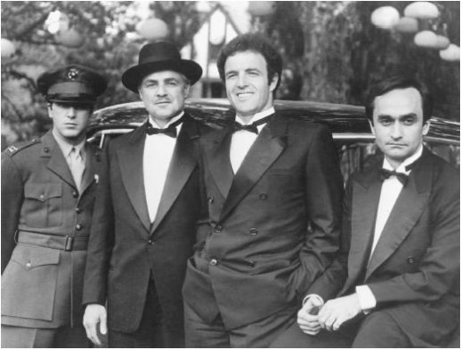 The Corleone men, all cleaned up.