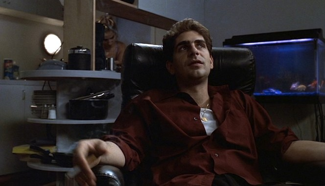 Chris' preference for the color red extends from his clothing to his choice of cigarettes; in the show's earlier seasons, he smokes Marlboro Reds.