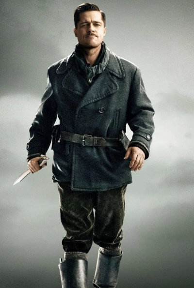Brad Pitt as Lt. Aldo Raine in Inglourious Basterds (2009).