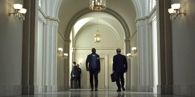 Remy struts down a Congressional hallway.