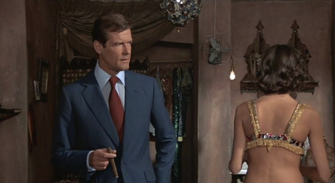 Bond is stunned when he realizes after reading the script that he just met a woman he won't be sleeping with.