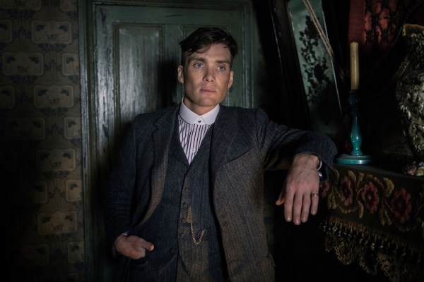 A production photo of Cillian Murphy in the first episode.