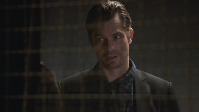 """No talk with Dewey Crowe is ever a pleasant one. Luckily for Raylan, their discussion in """"Cottonmouth"""" (Episode 2.05) is kept relatively short."""