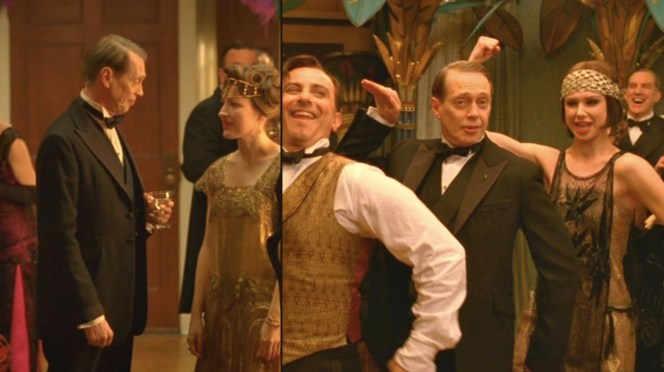 The details of Nucky's dinner jacket may make sartorial purists cringe, but he wouldn't care.
