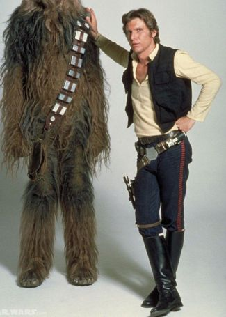 Publicity photo of Han and Chewie.