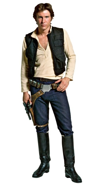 Harrison Ford as Han Solo in Star Wars (1977).