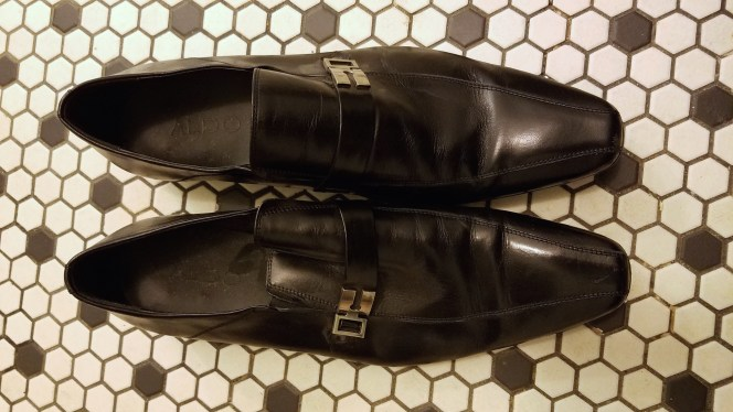Photo of Danny Huston's screen-worn ALDO loafers courtesy of Eric J. Tidd.