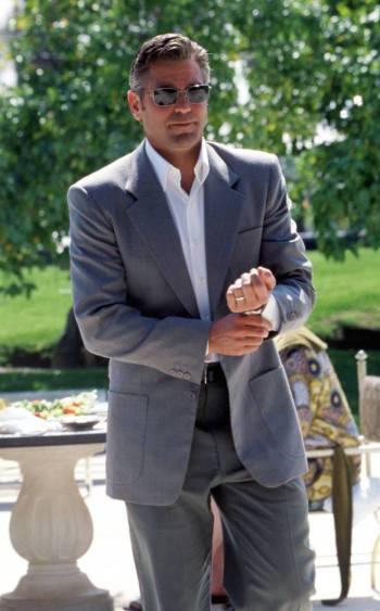 George Clooney as Danny Ocean in Ocean's Eleven (2001).