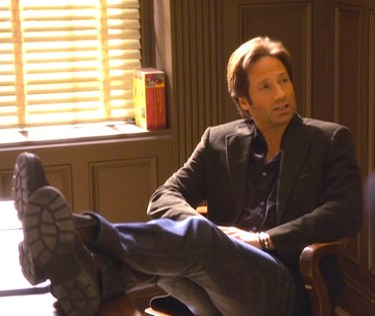 David Duchovny as Hank Moody on Californication. (Episode 3.02: