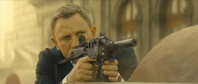 Bond takes aim.