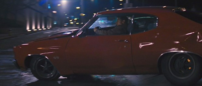 Tom Cruise whips the Chevelle around Pittsburgh's construction-laden streets.