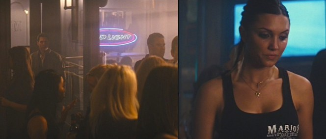 Reacher shows up for dinner at Mario's, which indeed uses the same logo seen on his server's shirt.