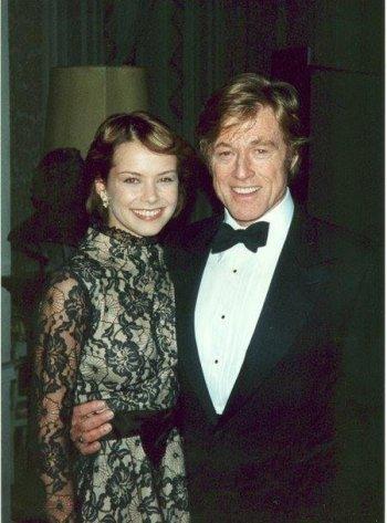 Andrea Osvárt and Robert Redford.