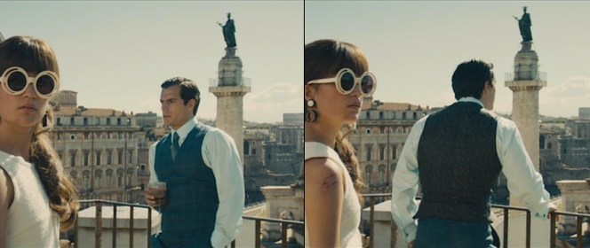 Solo takes in the air on his Rome hotel balcony.