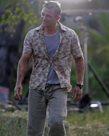 Daniel Craig on set.