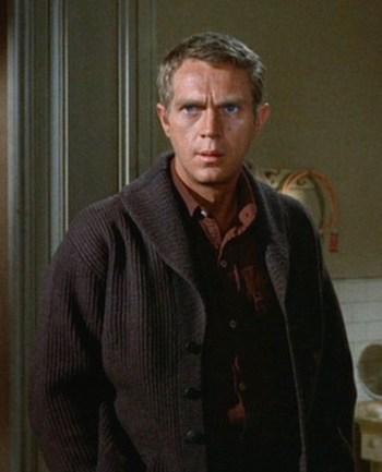 """Steve McQueen as Eric """"The Kid"""" Stoner in The Cincinnati Kid (1965)"""